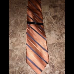 Calvin Klein peach/blue/white necktie - new.